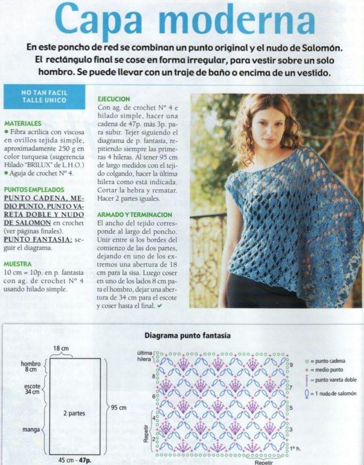 Hermosa Los Patrones De Crochet Libre Poncho Uk Bandera - Manta de ...