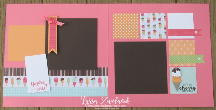 Tasty Cool Treats ice cream sweet scrapbook pages layout stampin up