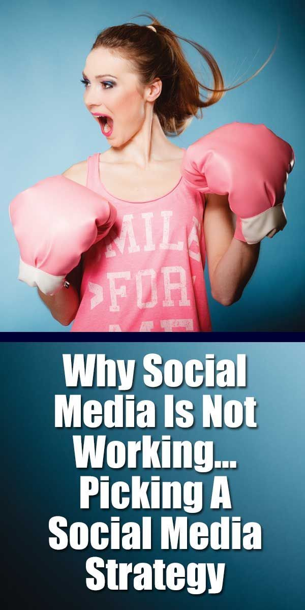 Why Social Media Is Not Working – Picking A Social Media Strategy .. The whole notion of social media is way out of hand. It is not a magic bullet, nor is it free. For the most part you pay with your time and effort, but that is actually more expensive than the dollars we used to spend on Yellow Page ads and bus benches. #socialmedia