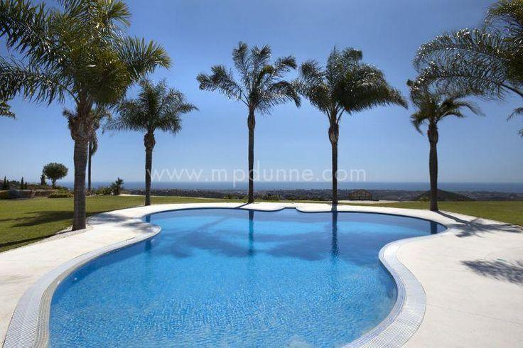 Pool with a view <3 this stunning villa offers fantastic sea views....wait until you see inside http://www.mpdunne.com/en-MPV1626_villa-ctra.+de+ronda-benahavis.html