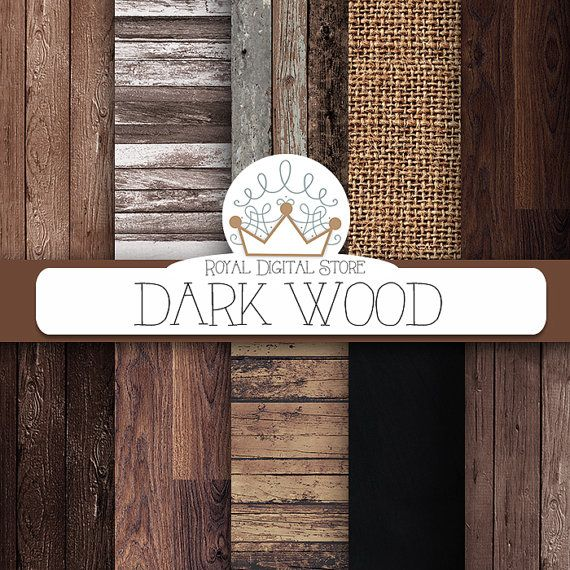 Wood digital paper: DARK WOOD with wood by royaldigitalstore