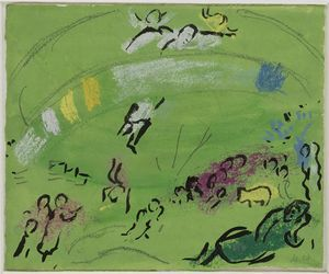 Noah and the Rainbow - (Marc Chagall)