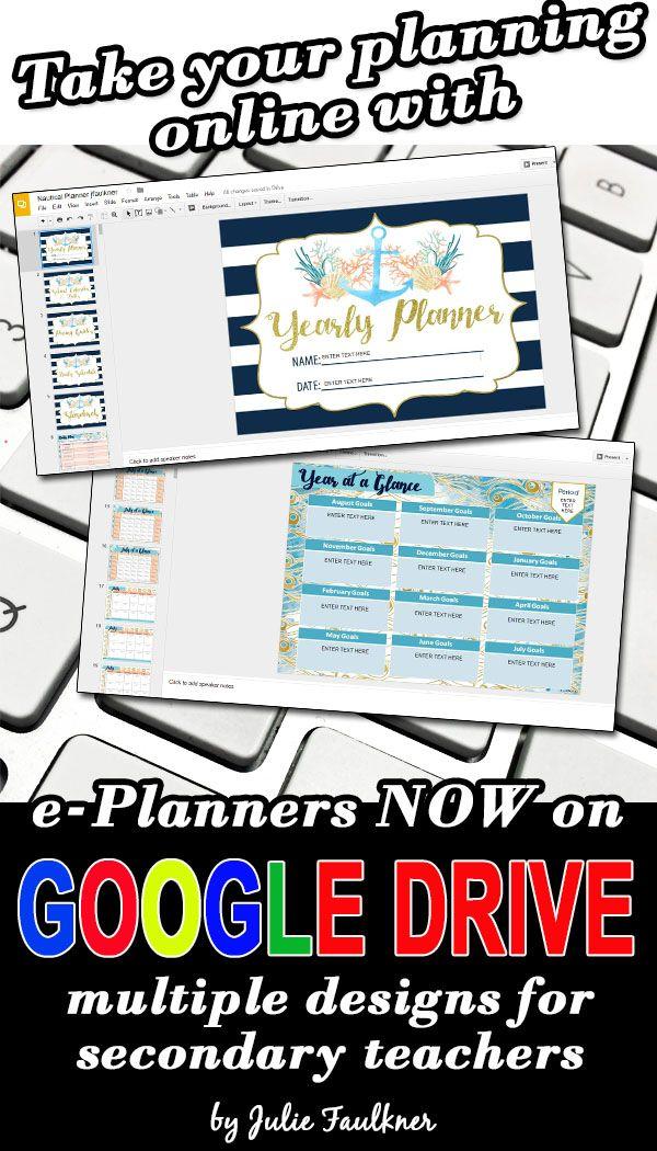 Teacher Planner Calendar Online Version Google Drive ePlanner Virtual Planner for Secondary Teachers