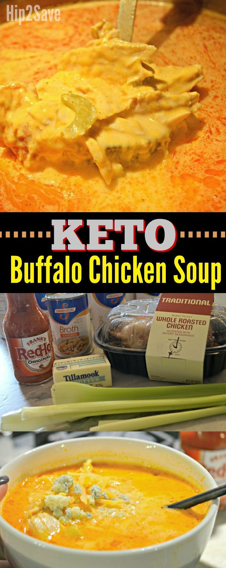 Grab some hot sauce and make this delicious tangy and cheesy Buffalo Chicken soup for dinner!