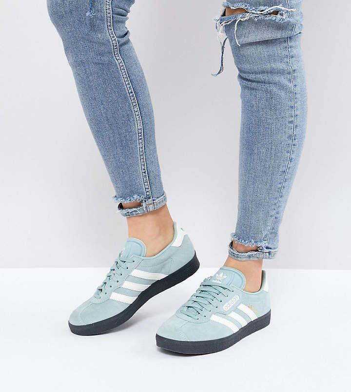 adidas Originals Gazelle Super Sneakers In Blue With Dark Gum ...