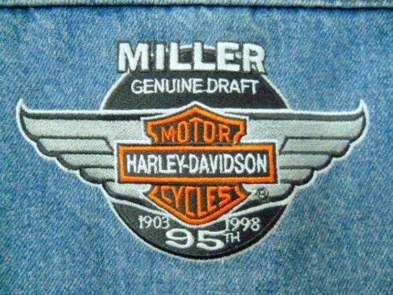 1998 Harley-Davidson 95th anniversary Miller Genuine Draft sticker