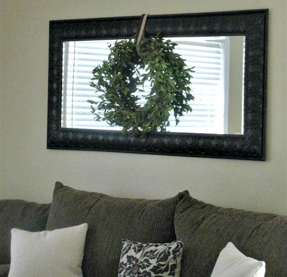 styling a mirror over couch - Google Search