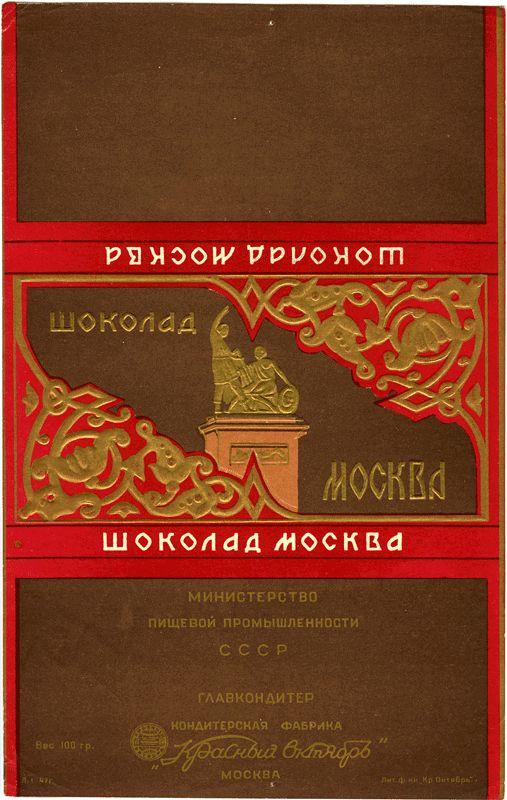 Дореволюционные и советские обёртки от конфет и шоколада | Московские древности