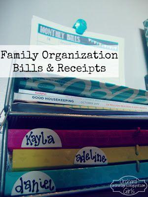 Monthly Bills Organization Station   FREE Printable