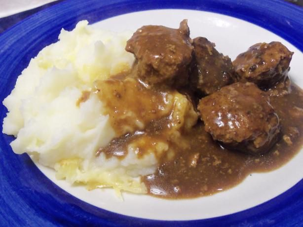 Norwegian Meatballs in Brown Gravy from Food.com: Another recipe I tried in Cuisine At Home Magazine and it was a real hit in my family...Easy and a great comfort food.