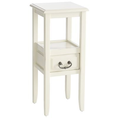 Anywhere - Pedestal Table Antique White // bedside?