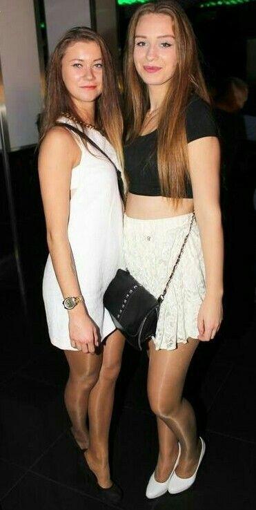 Very beautiful women in pantyhose.
