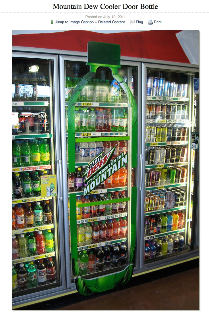 Mountain Dew  Oversized Cooler Cling