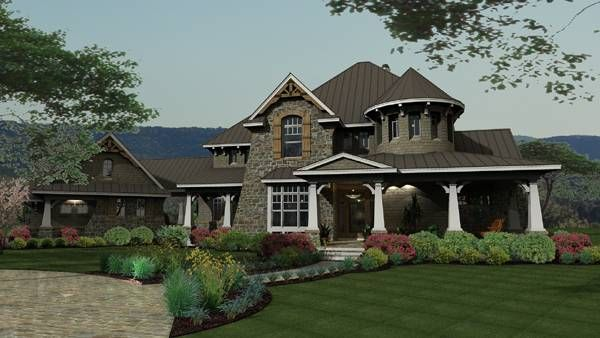This 2 story Cottage features 3,349 sq feet. Call us at 866-214-2242 to talk to a House Plan Specialist about your future dream home!