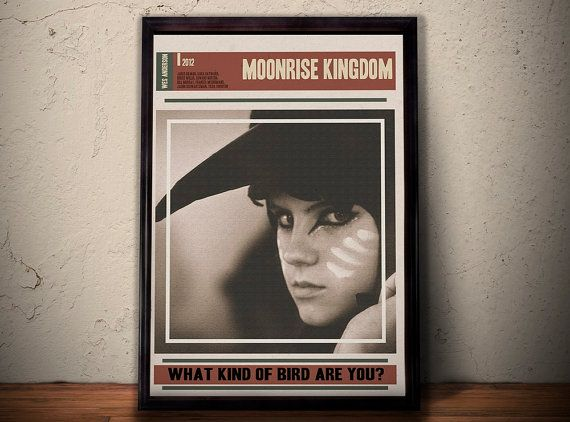 MOONRISE KINGDOM Alternative Movie Poster * What Kind Of Bird Are You Quote Print * Kara Hayward Quote A1 A2 A3 A4 Sizes Available