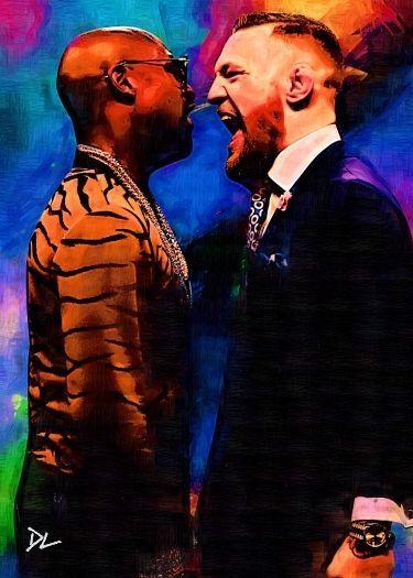 #art Conor McGregor vs Floyd Mayweather Artist Card *Artist Signed* Rare Serial 4/5 please retweet