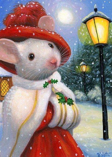 Картинки мышата на новый год
