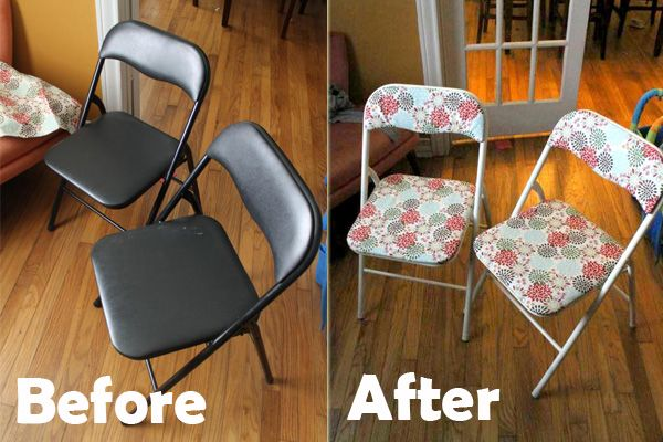 Card table and chairs revamped with paint & upholstery