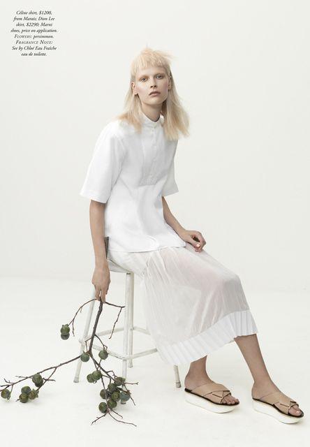 "Duchess Dior: ""The White Album"" Henna Lintukangas by Georges Antoni for Harper's Bazaar Australia"