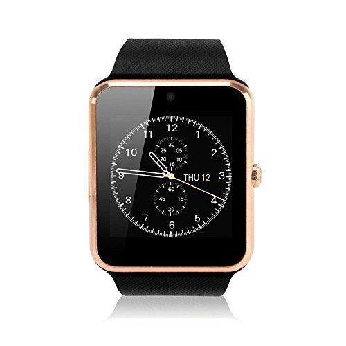 Smart Watch Cell Phone iPhone Android Smartphones Camera Bluetooth Gold Case New #SmartWatchCellPhone