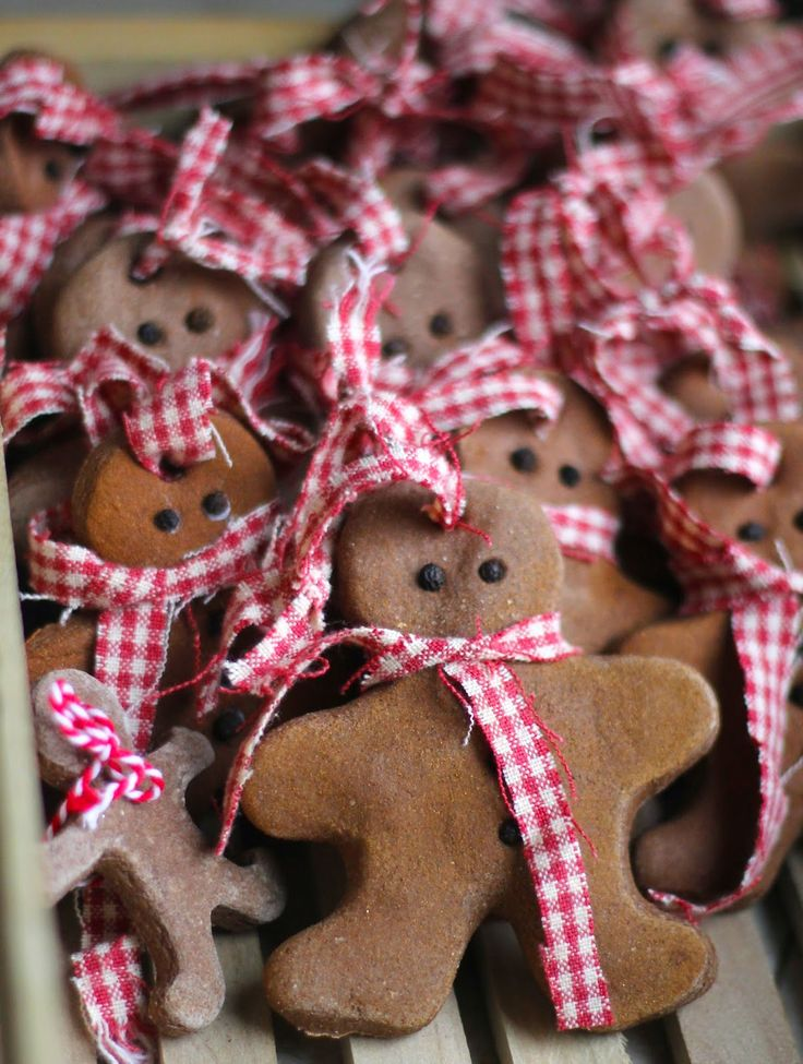 DIY Gingerbread Men Cinnamon Salt Dough Christmas Ornaments  DIY