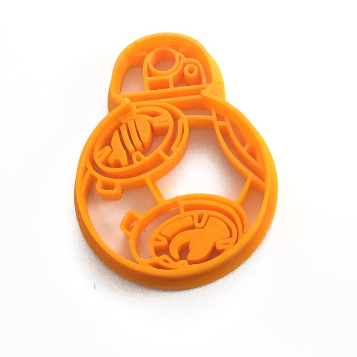 By request, it's a Star Wars BB-8 Cookie Cutter! Make cookies of our favorite little new droid with this 3D Printed cookie cutter! - 3D Printed to order - Dishwasher safe - Use lots of flour to reduce