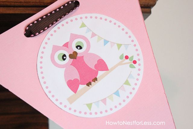owl birthday party...@Jillian Ehrlich...how cute would it be to make a Happy Day banner when you do the girl's owl bathroom?
