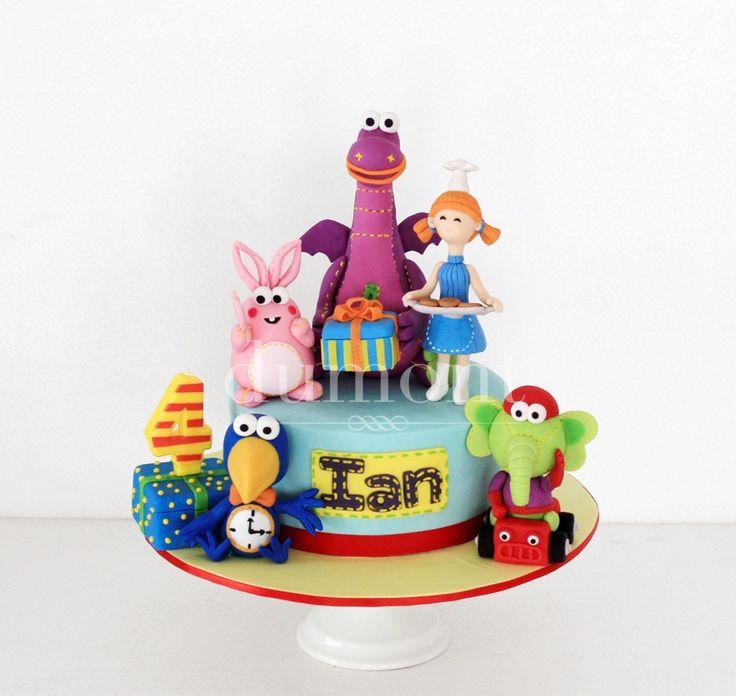 Dibo the gift dragon cake
