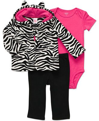 Carter's Baby Set, Baby Girl 3-Piece Zebra Set - Kids Baby Girl (0-24 months) - Macy's