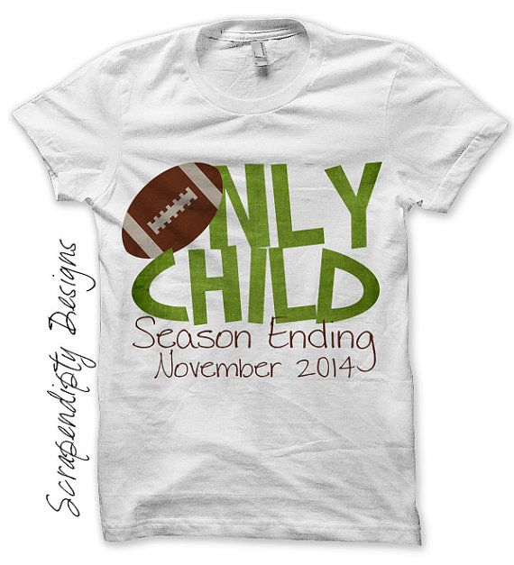 Football Iron on Transfer - Iron on Only Child Shirt / Football Only Child Season Ending Tshirt / Big Brother Pregnancy Announcement by ScrapendipityDesigns, $4.50