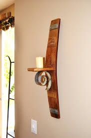 barrel stave wall wine rack - Google Search