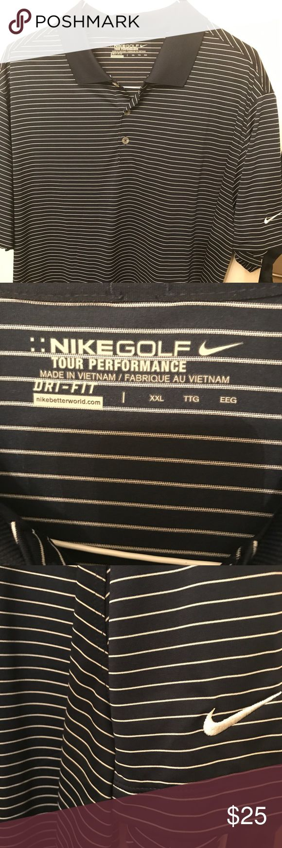 M 2XL Nike polo shirt in excellent condition. Very nice Adidas blue and white polo shirt in excellent condition. No rips tears or stains. Nike Shirts Polos