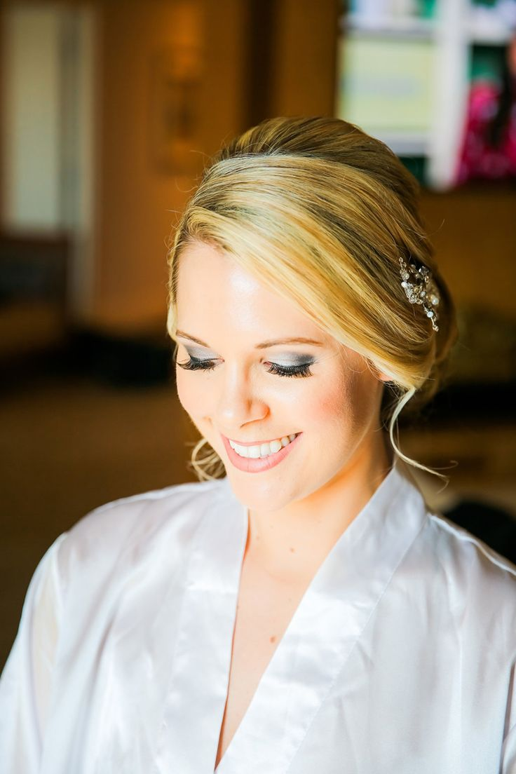 Elegant bridal updo for a beach wedding (Scribbled Moments Photography)