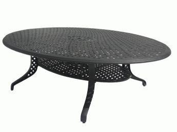 "Casablanca Cast Aluminum Egg Tables   InsideOut Patio Furniture  Toronto  69"" X 98"" or 71""X 118"""