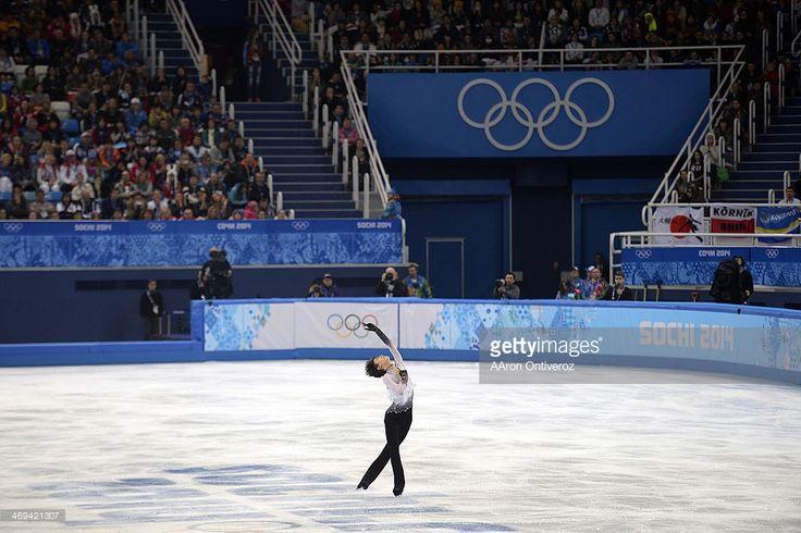Gold medalist Yuzuru Hanyu during the men's figure skating free skate. Sochi 2014 Winter Olympics on Friday, February 14, 2014.