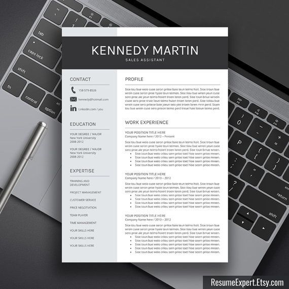 49 best Resume Templates images on Pinterest Cover letters - resume templates for mac