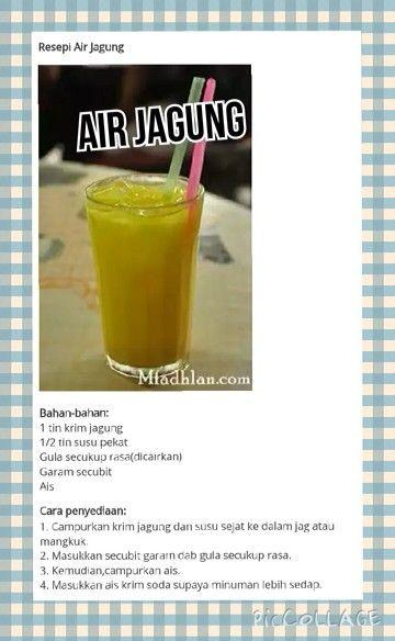 Resepi Air Jagung Special - Laman Resepi