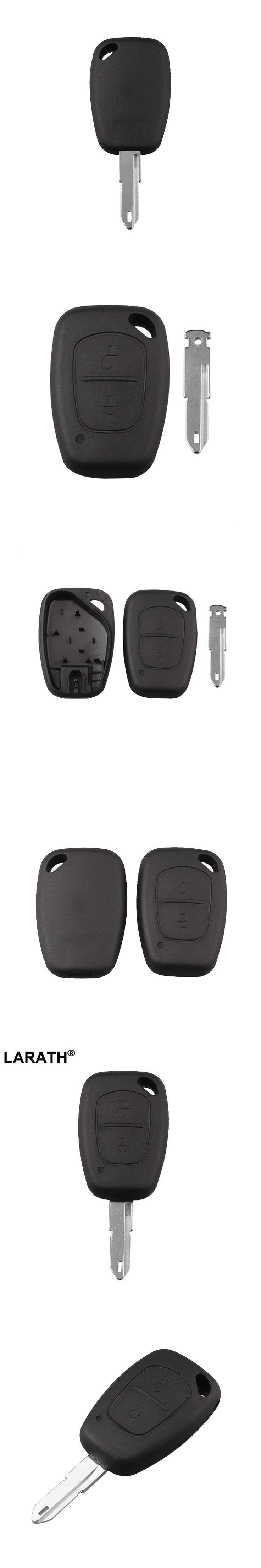 LARATH Uncut Key Shell For Opel Vivaro Movano Renault Traffic Kangoo For Nissan 2 Button Remote Car Key Cover FOB Shell Case