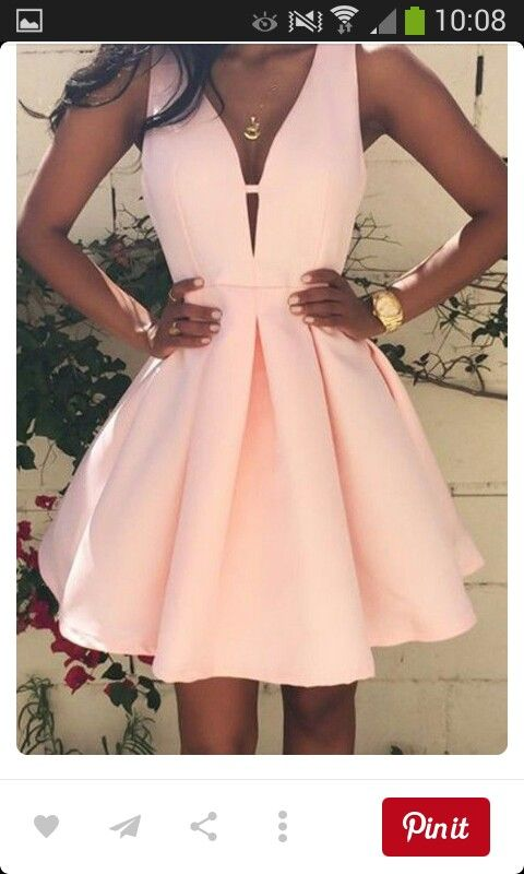 Roze jurk.