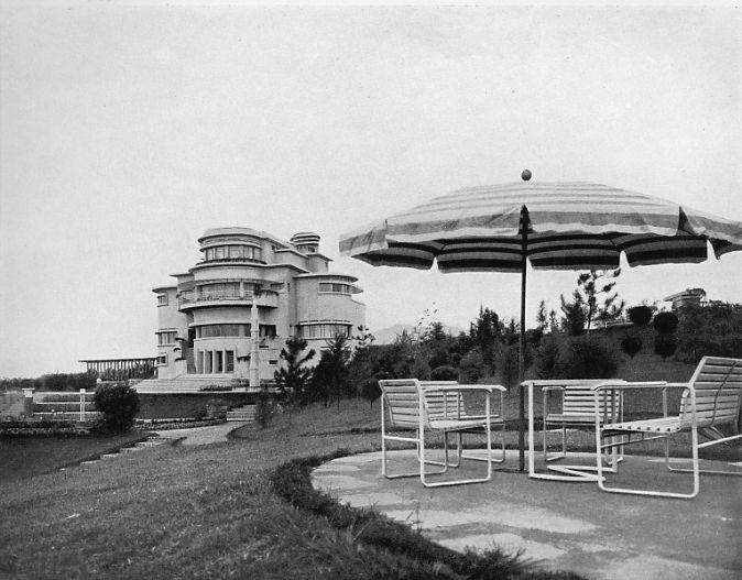 Terrace at Villa Isola, 1930s