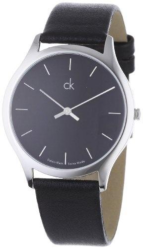 Calvin Klein Men's Watches Classic K2621104 Black Leather Quartz