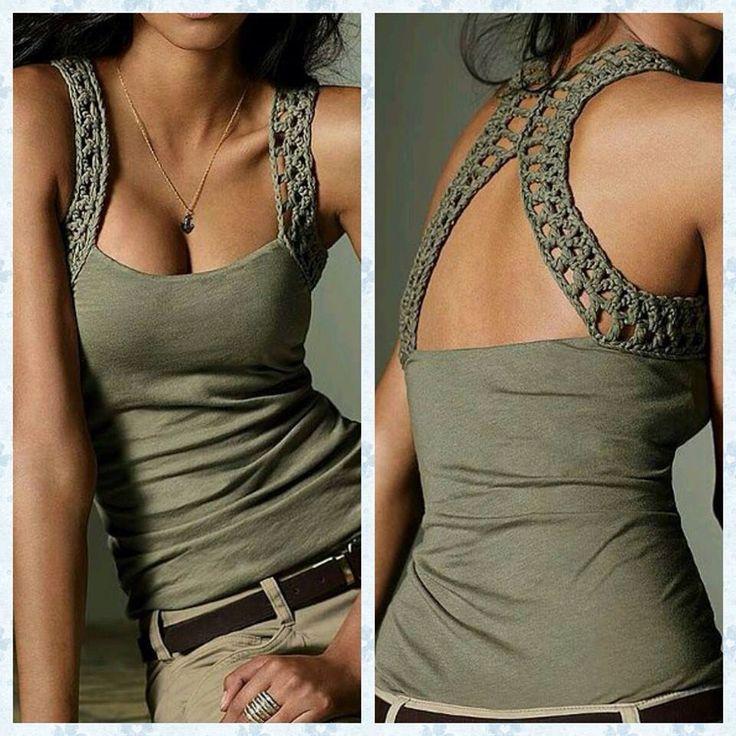 Musculosa 3R con crochet modelo