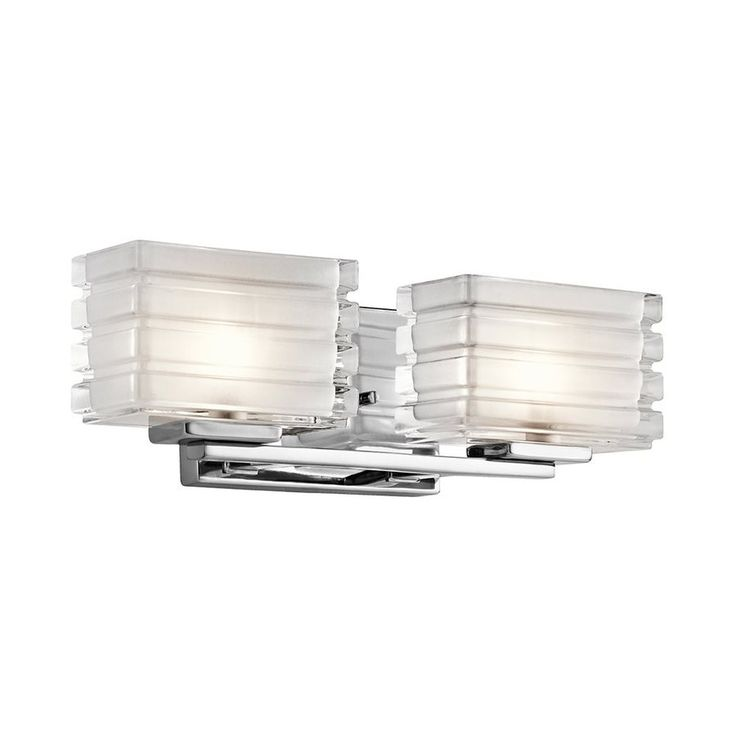 Kichler Lighting 2-Light Bazely Chrome Modern Vanity Light