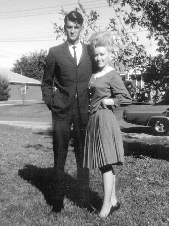 Dolly Parton (b. 1946) with her husband Carl Dean around the time of their marriage in 1966.