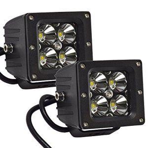 Eyourlife 2Pcs 3.2″ 20W Phare LED Feu Antibrouillard Projecteur Antibrouillard Éclairage de Travail Etanche 12V 4 LEDs CREE LED Faisceau…