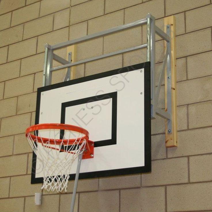 Height adjust wall mounted folding indoor basketball net
