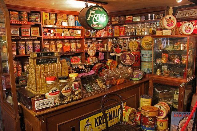 Antique counter fixture general store vintage