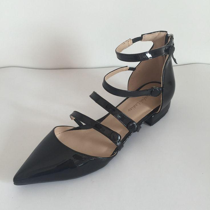 Удобные Плоские Пятки Женская Обувь Острым Носом Размер 15 Каблуки Роскошные Женщины Плоские Туфли Sapato Feminino Индивидуальные Красный Низ Обуви купить на AliExpress