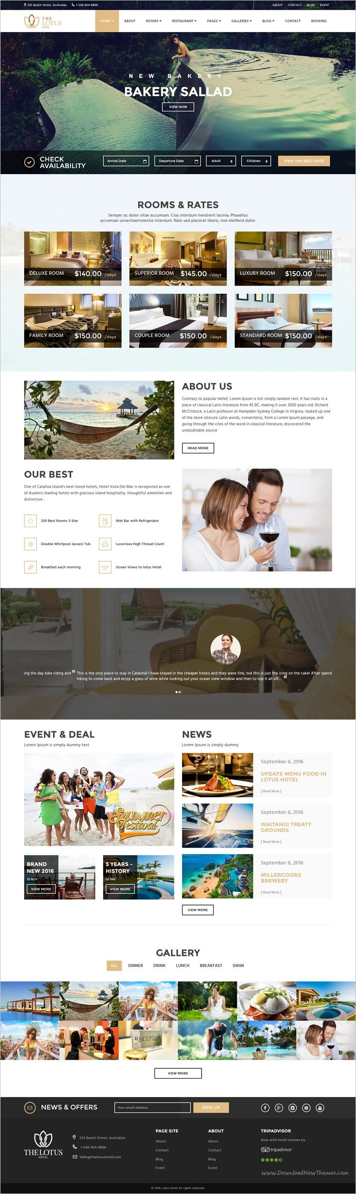 Lotus is an attractive and modern 2in1 #WordPress Theme that is perfect for #hotels, #resorts, #villas, B&B's or any types of hotel industry website download now➩ https://themeforest.net/item/lotus-hotel-booking-wordpress-theme/18087288?ref=Datasata