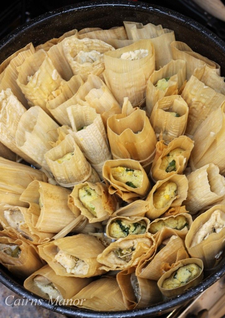 Green Chili Corn Tamales. One of the most time consuming dishes, and one of the best and most worthwhile .